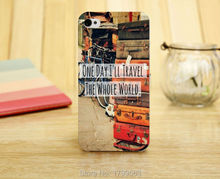 hot Vintage Travel Quote the whole world Soft Silicon transparent TPU Skin case for iphone 5 5s 4 4S 5c i6 6 6S plus i7 7 plus +