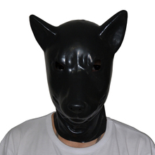 Buy (LS06)Fetish Latex full head latex pig dog cat leopard wolf horse animal head slave mask rubber hood SM Hood suffocate Mask