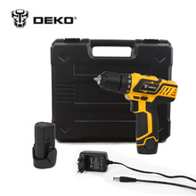 DEKO GCD10.8DU3 10.8V DC New Design Household Lithium-Ion Battery Cordless Drill/Driver Power Tools Electric Drill Set w/ BMC