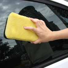 12.5*8cm Cheapest Microfibe Auto Car Window Cleaning Towel Cloth Tool Kit Polish Cleaner for Motorcycle Car Washer Sponge Brush