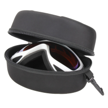 Portable Ski Glasses Carrying Case Zipper Hook EVA Crush-Resistan black Waterproof Ski Glass Protector Case Eyewear Storage case(China)
