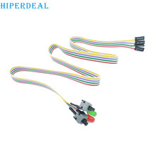 HIPERDEAL riser Cable ATX PC Compute Motherboard Power Cable 2 Switch On / Off / Reset with LED Light 50CM drop shipping 1pc