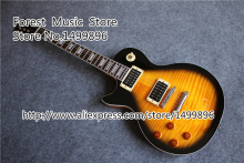 New Arrival Slash Signature Left Handed LP Guitar Electric Vintage Sunburst Tiger Flame China Guitar Body Custom