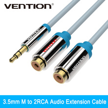 Vention 3.5mm Jack to 2 Female RCA Splitter 1 to 2 Y Audio Cable For Stereo Amplifier(China)