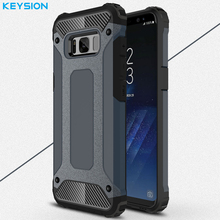 KEYSION Case For Samsung Galaxy S8 S8 Plus Hybrid Shell Armor Rugged TPU + Hard Plastic Shockproof Back Cover For G950 G955(China)