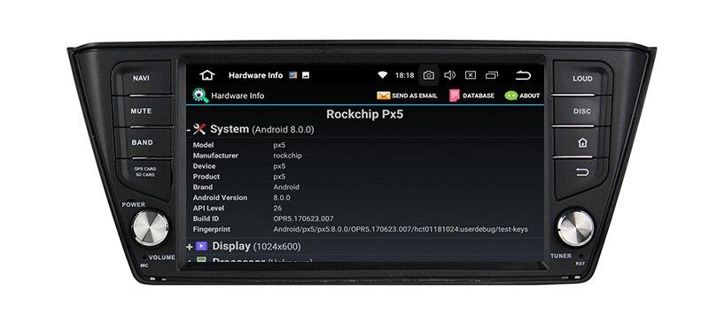 android 8.0 autoradio head unit skoda fabia 2
