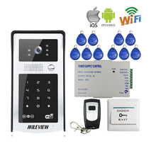 MILEVIEW RFID Code Keypad Wifi 720P Video Door Phone Intercom  IR Metal Doorbell for Phone Remote Monitor Unlock FREE SHIPPING