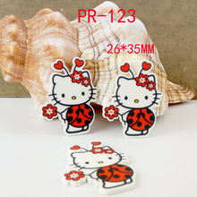 Cartoon patch kawaii Hello Kitty Figurine Kt Cat beetle crafts flat back planar resin  DIY headwear hair Bow accessories