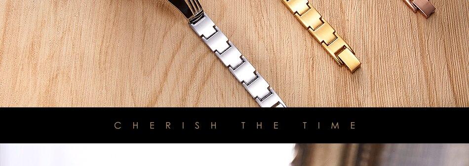 ساعة اليد سوار كوارتز  مطلية بالذهب 25