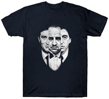 GODFATHER TRILOGY T SHIRT MAFIA FILM MOVIE GANGSTER ITALY ITALIAN Mens Shirts Short Sleeve Trend Clothing