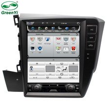 "GreenYi 10.4"" HD Vertical Screen Car DVD GPS Player For Honda CIVIC 2012-2016 Navigation Multimedia Auto Radio Video Stereos(China)"