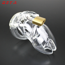 New 1 Set Plastic Male Chastity Device With Size Penis Ring Cock Cages Ring Virginity Lock Belt Sex Toy for Men Penis Sleeve