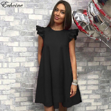 Buy Echoine Hot Sale 2017 Summer Dress Solid Color Shoulder Women Dresses Fashion Casual Sexy Dresses Beach White vestidos for $8.08 in AliExpress store