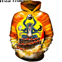 PLstar Cosmos 2017 Anime Monkey Hoodies Men's Hooded Sweat Shirts Pullovers Autumn Long Sleeve Outerwear Plus Size Tops Hoody(China)