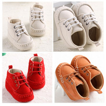 2016 Newest Newborn Baby Moccasins Brown Soft Soled White Shoes Infant Toddler Winter Warm Girls Boys Lace-up Boots Boys Booties(China)