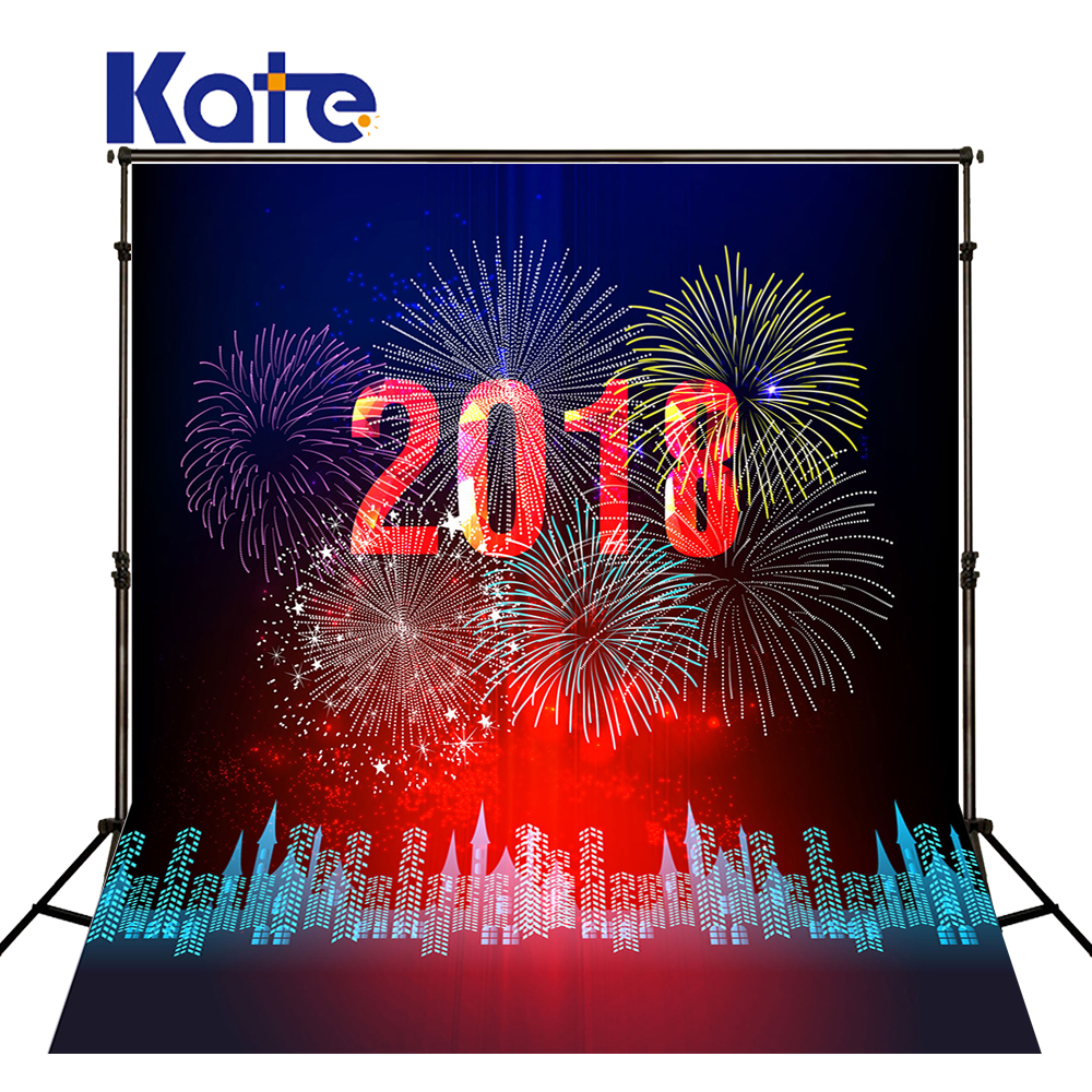 KATE Photography Background 5x7ft Lamplight Stage Backdrop Christmas Backdrops 2018 Happy New Year Backdrops for Photo Studio<br>