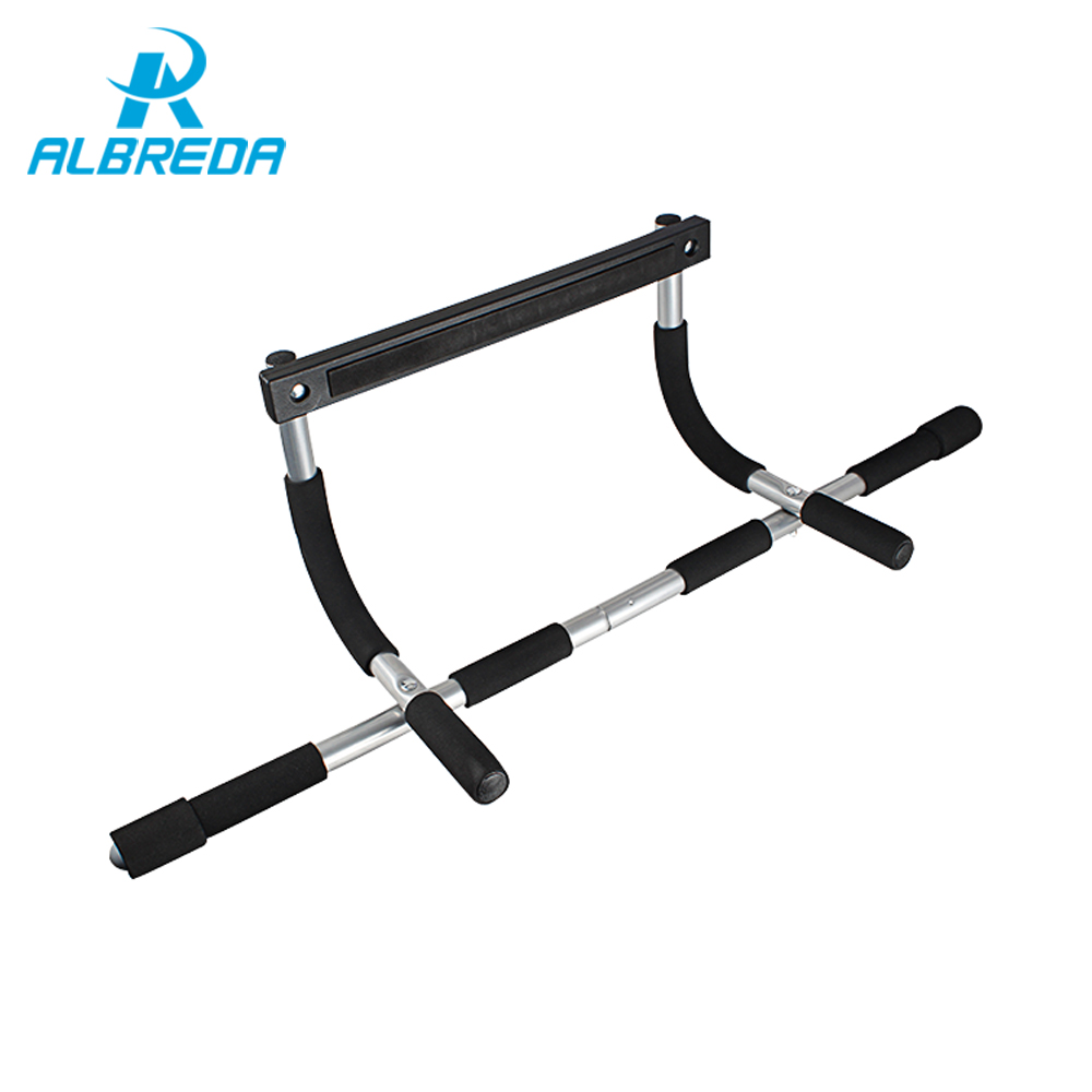 ALBRED Black Body Fitness Exercise Home Gym Gymnastics Workout Trainning Door Pull up bar Push Portable Chin up bar GYM for home<br>