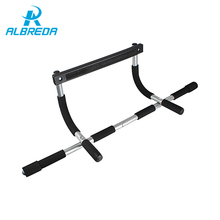 ALBRED Black Body Fitness Exercise Home Gym Gymnastics Workout Trainning Door Pull up bar Push Portable Chin up bar GYM for home(China)