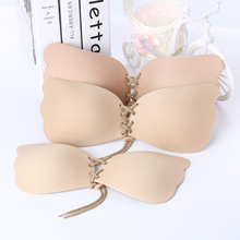 Women Strapless Bra Silicone Push-Up Bra Backless Self-Adhesive Gel Magic Stick Invisible Bra For Women lady Summer Fly Bra 2017(China)