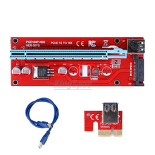 Latest version ver 007S board PCI-E PCI E Express 1X to 16X Riser Card USB 3.0  Cable for Bitcoin Litecoin Mine 60cm/30cm
