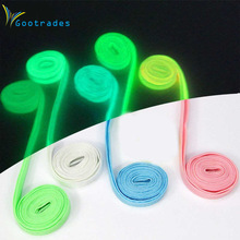 gootrades  2PC Luminous Glow In The Dark Shoelace Athletic Sport Sneaker Shoe Laces Strings