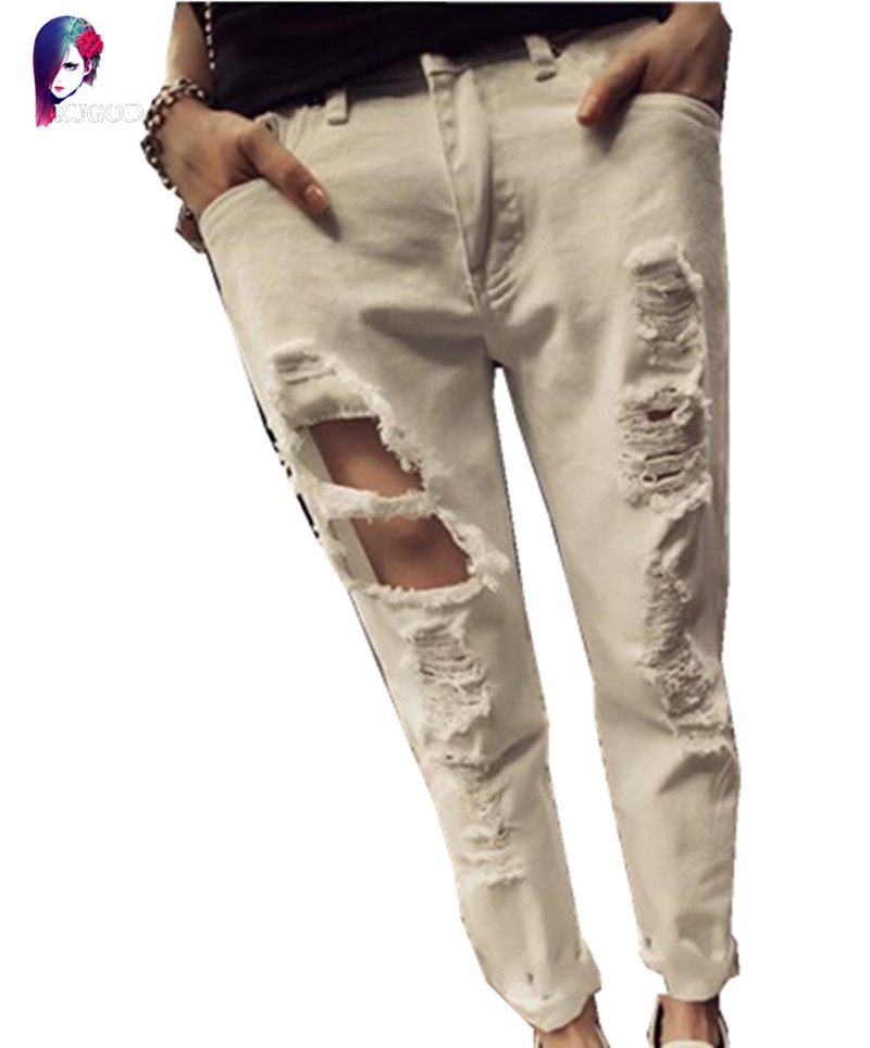 Autumn Women Jeans European Style Hole Harem Pants Thin And Wild Jeans White Washed  Denim Pant Одежда и ак�е��уары<br><br><br>Aliexpress