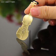 1pcs Metal Bookmark Vintage Angel Musical Instruments Bookmark Paper Clip for Book Mark Notes(China)