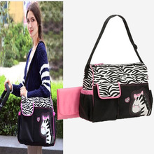 NEW Fashion large Capacity Baby Diaper Bag diaper mummy bag baby nappy bags Zebra Giraffe Multifunctional Mothers Messenger Bags