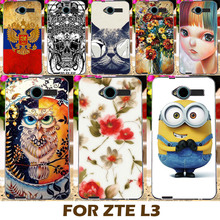 Top Selling Painting Design Hard Plastic Case For ZTE Blade L3 5.0 Inch Cell Phone Cover Protective Sleeve Shell Funda Carcasa