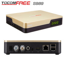 Tocomfree S989 with free wifi  antenna and  iks  best hd satellite receiver with internet connection