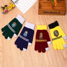 Harri Potter Knitting Touch Screen Magic Gloves Gryffindor Fourth School Badge Gloves Magic Toys Gift(China)