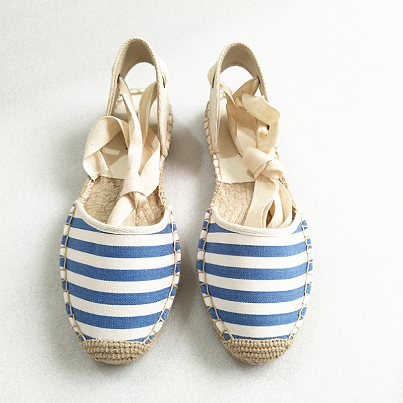 Canvas Summer Women's Espadrille Sandals Flats Ankle Strap Hemp Bottom Fisherman Women Shoes For 2018 SpringAutumn Women Loafer (5)