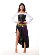 New Sexy Halloween Costume Women Helloween Make Up Party Dress Native American Indian Wild West Fancy Dress Party Costume B-3951