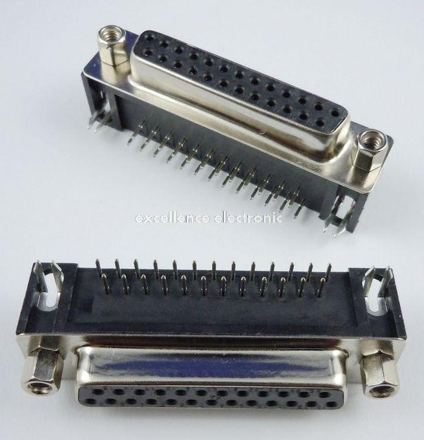20 Pcs D-SUB 25 Pin Female Right Angle PCB Connector 2 Rows<br><br>Aliexpress