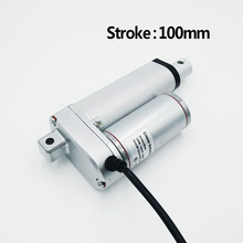 Electric Linear Actuator 12V/24V DC Motor 100mm Stroke Linear Motion Controller 500N/1000N/1300N Max Heavy Duty