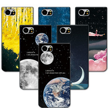 "Soft Tpu Silicone For Blackberry Keyone Couple Style Phone Case Space Stars For Blackberry Keyone Mercury DTEK70 4.5""Back Cover"