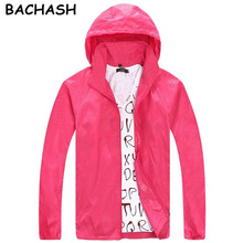 BACHASH 2017 Spring Autumn Summer Brand Men's Women's Casual Jacket Hooded Jackets Fashion Lovers Thin Windbreaker Zipper Coats