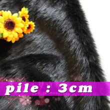"Black  Solid Shaggy Faux Fur Fabric (long Pile fur)  Costumes  Cosplay   Backdrops  36""x60"" Sold By The Yard  Free Shipping"