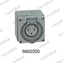 *20A single/three phase 3 round pin waterproof socket IP66 56SO320R(China)