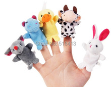 Mini animal hand puppet toy doll theater mouth dynamic means even glove hand puppet plush toy doll