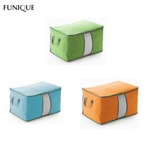 FUNIQUE Non-woven Fabric Foldable Storage Bag Case For Clothes Blanket Pillow Blanket Closet Storage Bag Home Organizer Boxes
