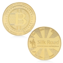 Coin Silk Road Bitcoin BTC Coin Gold Plated Commemorative Coins Collectible Art Gift(China)