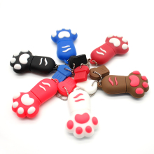 Cute Cartoon 64gb Cat Paw Pen Drive 4gb Tiny Footprint 8gb USB Flash Drive 32gb Flash Memory Stick 16gb Chain Flash Card 2gb