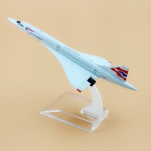 New Alloy Metal Air British Airways Costa Concordia G-BOAC Airlines Plane Model Airplane Model w Stand Aircraft For Kids Gift