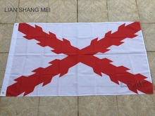Flag of Cross of Burgundy 150X90cm (3x5FT) 120g 100D Polyester double stitched high quality free shipping Spanish Empire(China)