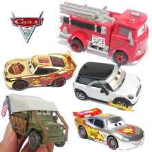 Pixar Cars 2 Red Firetruck Silver Chrome Diecast Metal Toy Car 1:48 Toy Car For Children Collection Decoration Kids Toys(China)