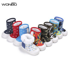 9 Colors New Fashion Canvas Leisure Winter Keep Warm fur Newborn First Walkers Boys Girls Boots Soft Rubber Sole Baby Shoes(China)