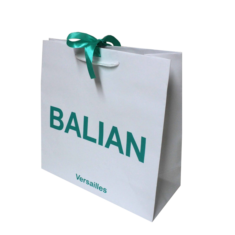 green paper bag customzied logo