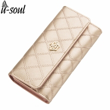 Fashion Women Wallets Good Quality PU Leather Wallets Fashion Purse Long Design Female Clutches Wallets Casual Purse ZCP233KK(China)
