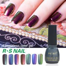 2016 New Arrival RS Nail chameleon paint nail glue esmaltes permanentes de uv vernis color gel uv varnish vernis a ongle lacquer(China)